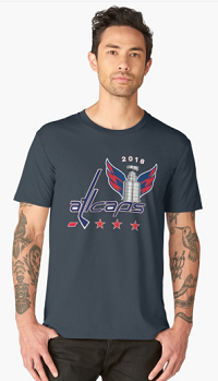 ALLCAPS Washington Hockey Champions Cup 2018 Canvas T Shirt for best team fans. Hockey Cup Playoffs 2018 tee.  This shirt is a perfect unique gift idea for a friend or family member, special for hockey playoffs 2018.