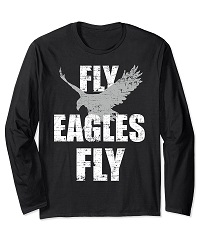 Flying Eagles Says Fly Eagles Fly Vintage Long Sleeve T Shir